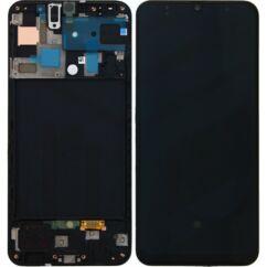 Samsung A505 Galaxy A50, LCD kijelző érintőplexivel, fekete