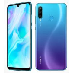 Mobiltelefon, Huawei P30 Lite 128GB DualSim, Kártyafüggetlen, 1 év garancia, kék