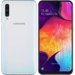 Samsung A505 Galaxy A50 128GB DualSIM, (Kártyafüggetlen 1 év garancia), Mobiltelefon, fehér