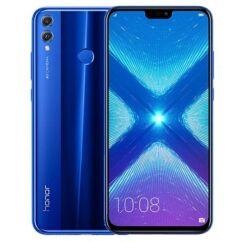 Mobiltelefon, Huawei Honor 8X 64GB DualSim, kártyafüggetlen, 1 év garancia, kék