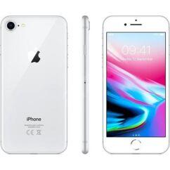 Mobiltelefon, Apple iPhone 8 128GB kártyafüggetlen, 1 év garancia, ezüst