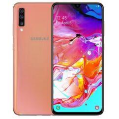 Mobiltelefon, Samsung A705 Galaxy A70 128GB DualSim, Kártyafüggetlen, 1 év garancia, koral