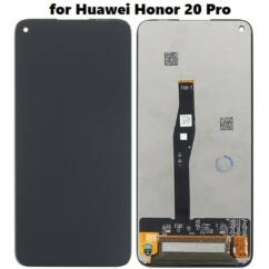 Huawei Honor 20/Honor 20 Pro/Nova 5T, LCD kijelző érintőplexivel, fekete