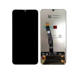 Huawei P Smart 2019, LCD kijelző érintőplexivel és előlap kerettel, fekete