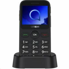 Alcatel OT-2019G, Mobiltelefon, szürke (Kártyafüggetlen mobiltelefon idősek számára)