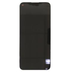 Huawei P40 Lite, LCD kijelző érintőplexivel és előlap kerettel, fekete