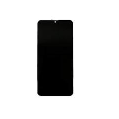 Samsung A107 Galaxy A10s, LCD kijelző érintőplexivel és előlap kerettel, fekete