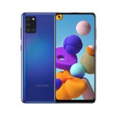 Samsung A217F Galaxy A21S 64GB 4GB RAM DualSIM, (Kártyafüggetlen 1 év garancia), Mobiltelefon, kék