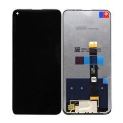 LG K61 LMQ630EAW, LCD kijelző érintőplexivel és előlappal, fekete