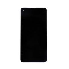 Samsung A217 Galaxy A21S, LCD kijelző érintőplexivel és előlappal, fekete