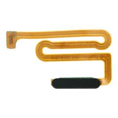 Samsung A125/M127 Galaxy A12/M12, Átvezető szalagkábel (Flex), (be-kikapcsoló, ujjlenyomat érzékelő), fekete
