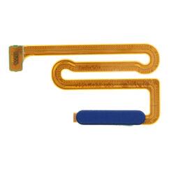 Samsung A125/M127 Galaxy A12/M12, Átvezető szalagkábel (Flex), (be-kikapcsoló, ujjlenyomat érzékelő), kék