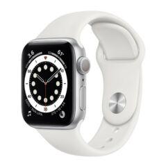 Apple Watch S6 44mm Sport (A2292), Okosóra, ezüst-fehér