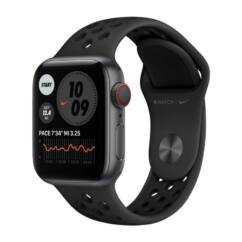 Apple Watch S6 40mm Nike Sport LTE (A2292), Okosóra, szürke-fekete