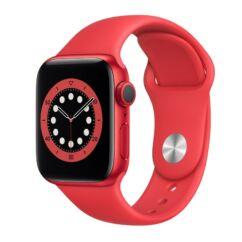 Apple Watch S6 40mm Sport, Okosóra, piros