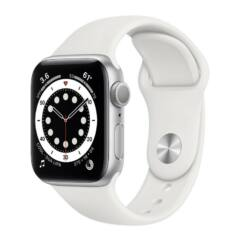 Apple Watch S6 40mm Sport (A2292), Okosóra, ezüst-fehér
