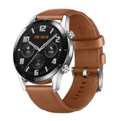 Huawei Watch GT2 Classic 46mm, Okosóra, ezüst-barna