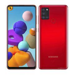 Samsung A217F Galaxy A21S 32GB 3GB RAM DualSIM, Mobiltelefon, piros