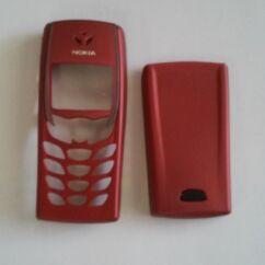 Nokia 6510 elő+akkuf, Előlap, piros