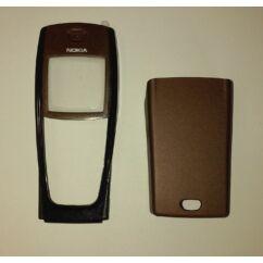 Nokia 6220 elő+akkuf, Előlap, barna-fekete