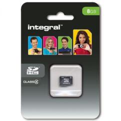 Memóriakártya, MicroSD  8GB (INTEGRAL) (Class 4)