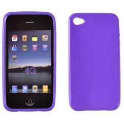 Szilikon tok, Apple iPhone 4, 4S, S-Case - lila