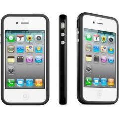 Apple iPhone 4/4S, Védőkeret (bumper), fekete