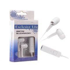 Headset, Forever MP3, MP4 (3,5mm), fehér