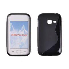 Samsung S6802 Galaxy Ace DuoS, Szilikon tok, S-Case, fekete