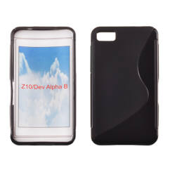 Szilikon tok, Blackberry Z10, S-Case - fekete