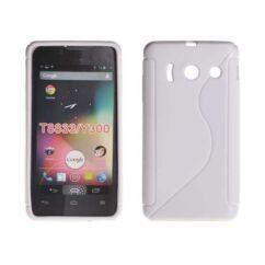 Szilikon tok, Huawei Y300, S-Case - fehér