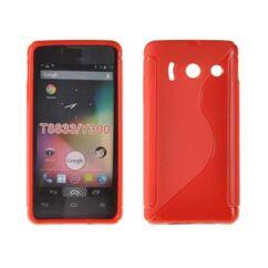 Szilikon tok, Huawei Y300, S-Case - piros