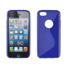Szilikon tok, Apple iPhone 5, 5S, S-Case - kék