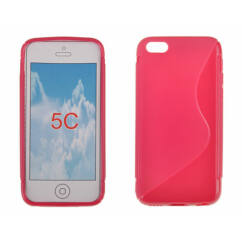 Szilikon tok, Apple iPhone 5, 5S, S-Case - rózsaszín