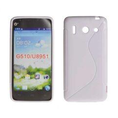 Szilikon tok, Huawei G510, S-Case - fehér