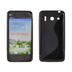 Szilikon tok, Huawei G510, S-Case - fekete
