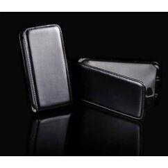 Sony Xperia Z1 Mini D5503, Lefele nyíló flip tok, fekete