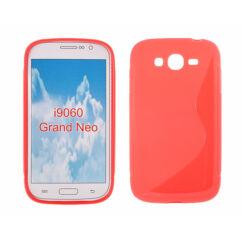 Samsung i9060/i9080 Grand Neo, Szilikon tok, S-Case, piros