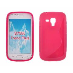 Samsung S7560/S7580, Szilikon tok, S-Case, rózsaszín