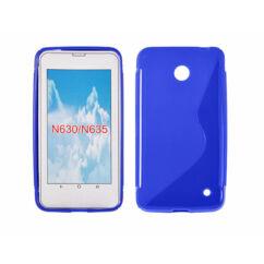 Szilikon tok, Nokia Lumia  630, 635, S-Case - kék