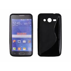 Samsung G355 Galaxy Core 2, Szilikon tok, S-Case, fekete