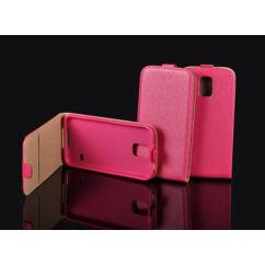 Apple iPhone 4, Lefele nyíló flip tok, rózsaszín