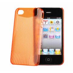 Apple iPhone 4, Hátlap tok, narancs - Vennus