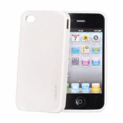 Szilikon tok, Apple iPhone 4, 4S, Vennus - fehér