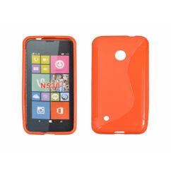 Szilikon tok, Nokia Lumia  530, S-Case - narancs