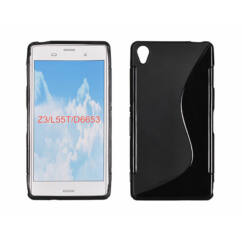 Sony Xperia Z3 D6603, Szilikon tok, S-Case, fekete