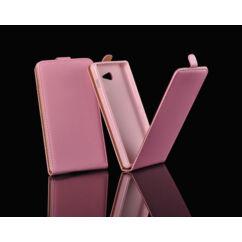 Sony Xperia Z3 Mini D5803, Lefele nyíló flip tok, rózsaszín