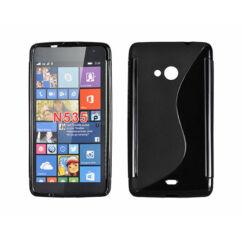 Microsoft Lumia  535, Szilikon tok, S-Case, fekete