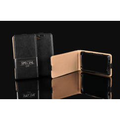Sony Xperia Z3 D6603 (Sp), Lefele nyíló flip tok, fekete