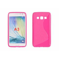 Samsung A300 Galaxy A3, Szilikon tok, S-Case, rózsaszín